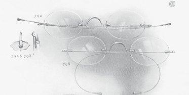 Brillen gehen randlos